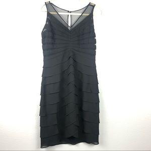 Scarlett Nite ruffled black dress